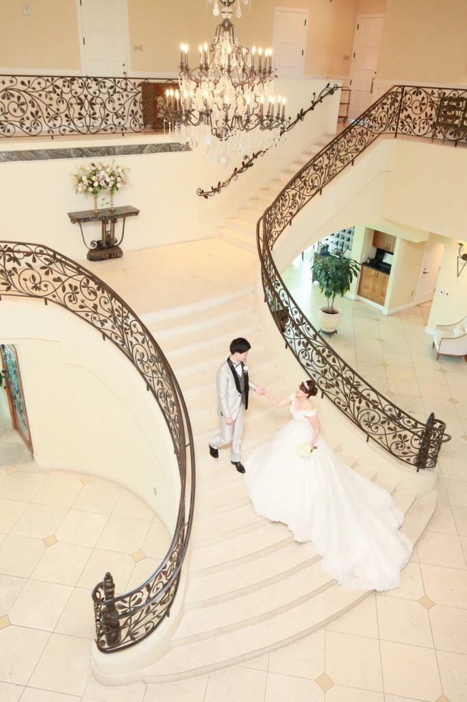 階段ツーショット