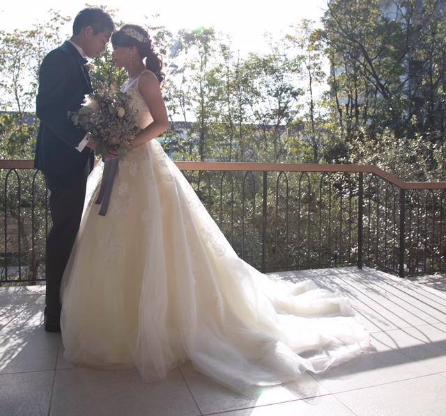 ラピスアジュールで結婚式 インポート風ドレス