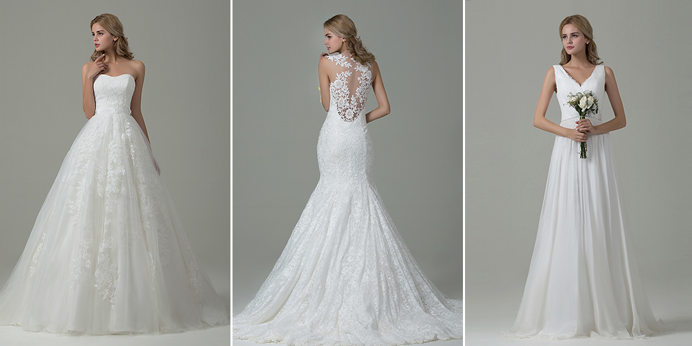 166468837e989 ウェディングドレスの種類?似合う体型と選び方のご紹介 - Cocomelody ...