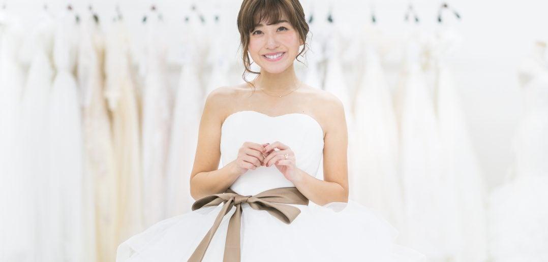 水野佐彩 ウェディングドレス サッシュベルト