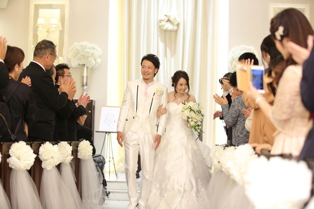 アーフェリーク迎賓館福岡 結婚式 サテンドレス