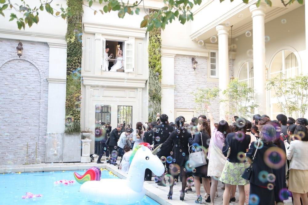 アーフェリーク迎賓館福岡 結婚式 お菓子撒き