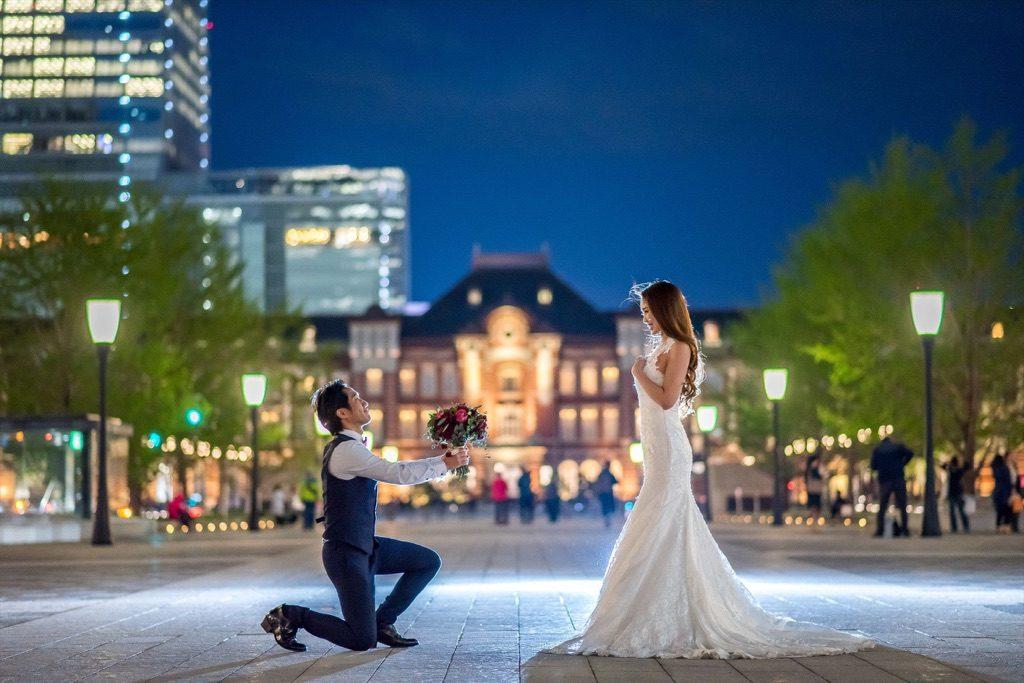 東京駅 前撮り マーメイドドレス