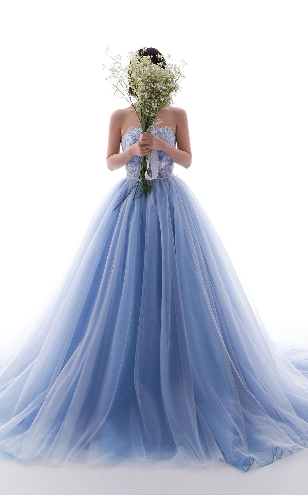 ライトスレートグレー カラードレス