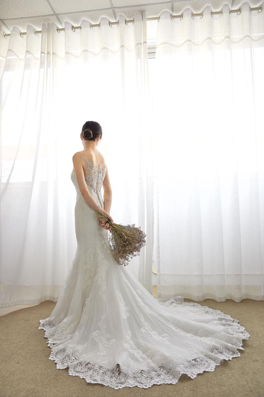 ソフトチュール イリュージョン マーメイドウェディングドレス