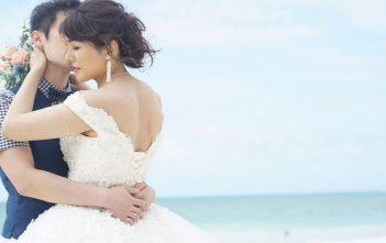ハワイパラダイスクリスタルガーデンチャペル オフショルダードレス