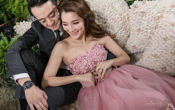 くすみピンク ミニドレス ウェディングドレス