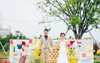 nicoe(ニコエ)でガーデンウェディング マーメイドドレス