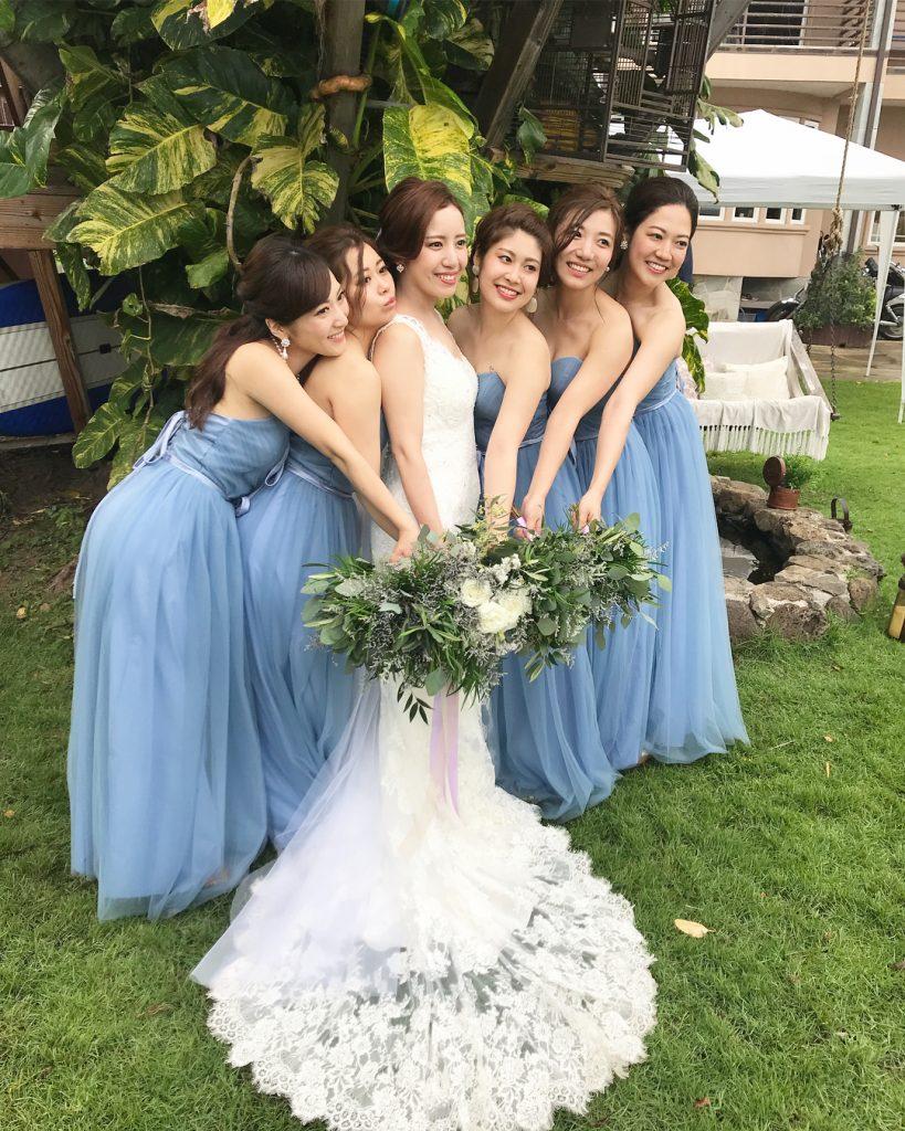ブライズメイドドレス ブルー