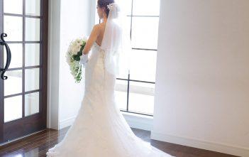 アルカンシエルベリテ大阪 挙式 マーメイドドレス