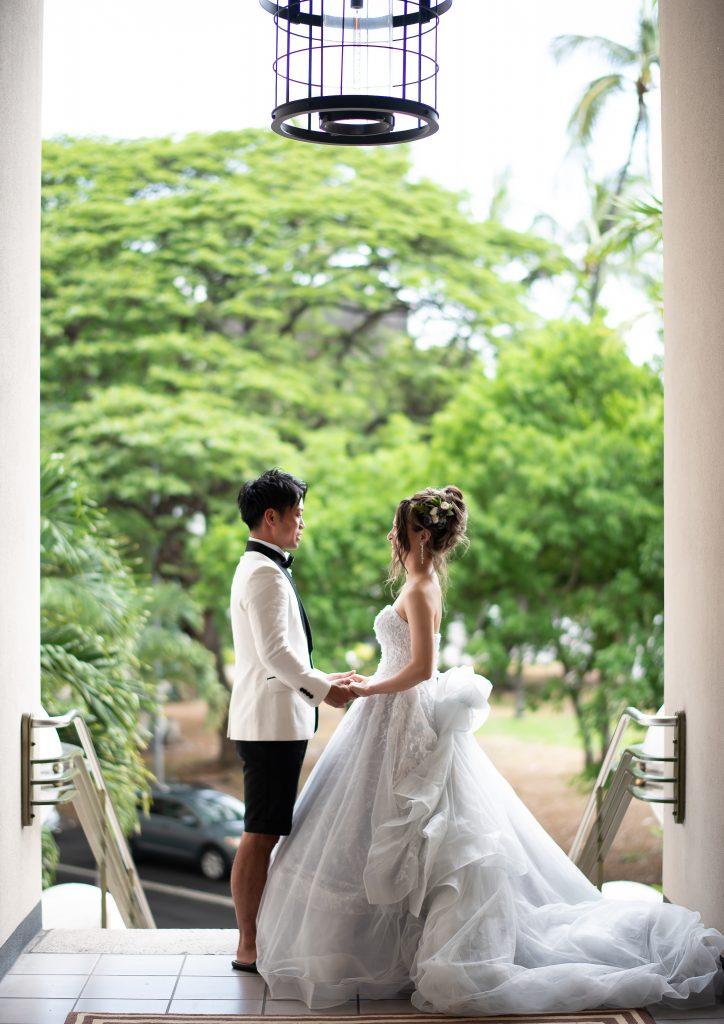 ハワイ挙式 フォトツアー ウェディングドレス