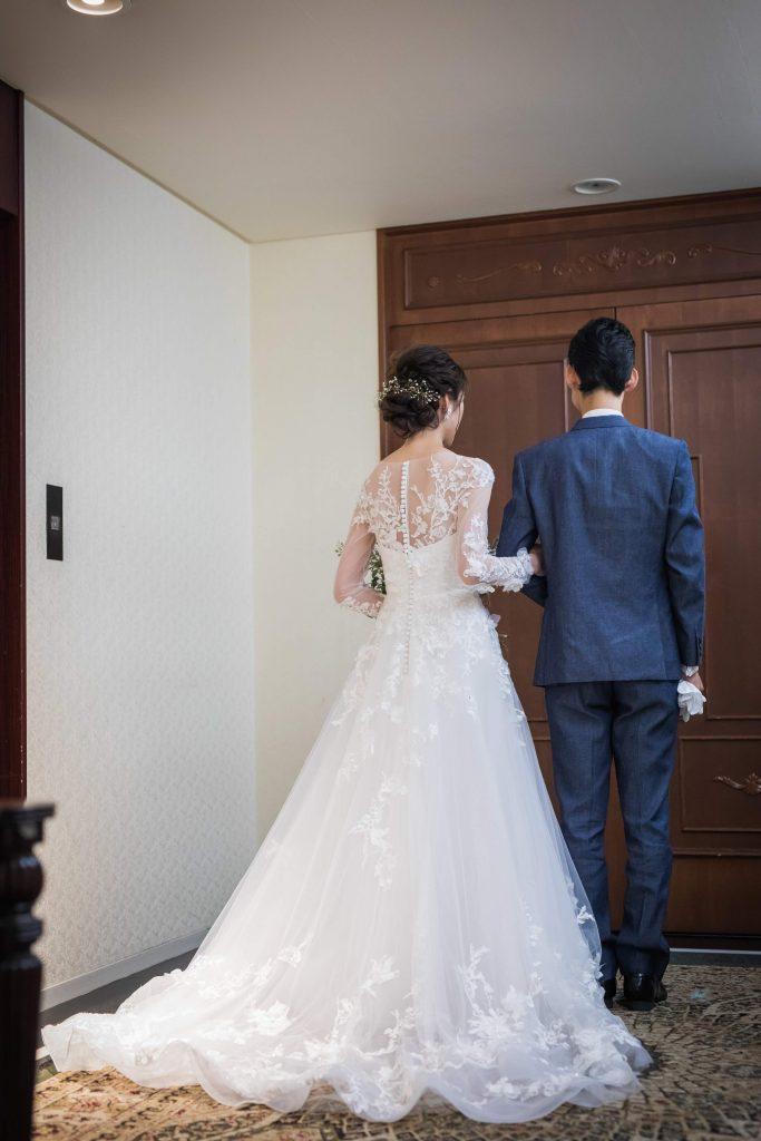 アンジェパティオ 結婚式 長袖ドレス 刺繍バック