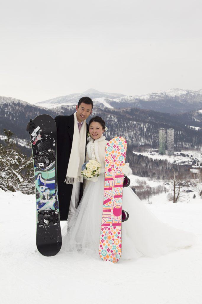 北海道 スキー ウェディングフォト