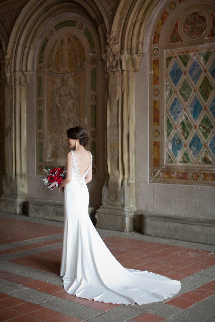 ニューヨーク前撮り バックレス マーメイドドレス