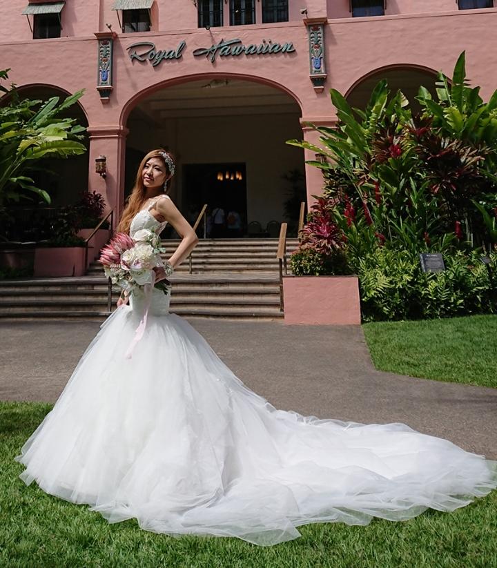 海外挙式 ハワイ マーメイドウェディングドレス