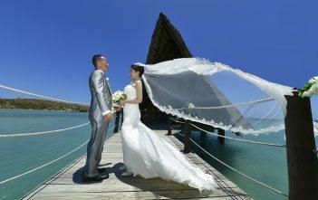 海外挙式 ニューカレドニア マーメイドドレス