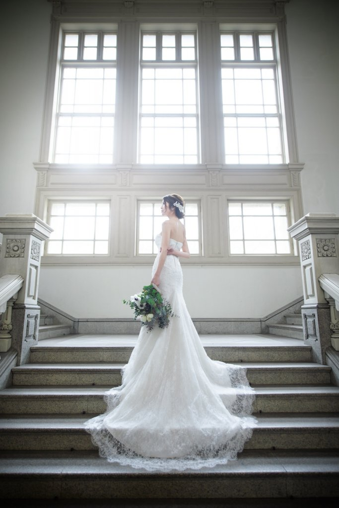 結婚式前撮り マーメイドウェディングドレス