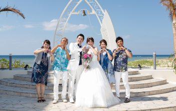 ラソールガーデンアリビラ 挙式 沖縄 家族婚