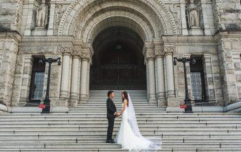 カナダ前撮り マーメイドウェディングドレス