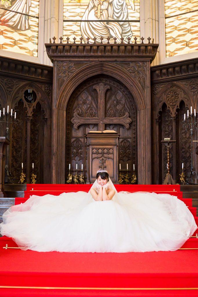 後撮り プリンセスラインドレス