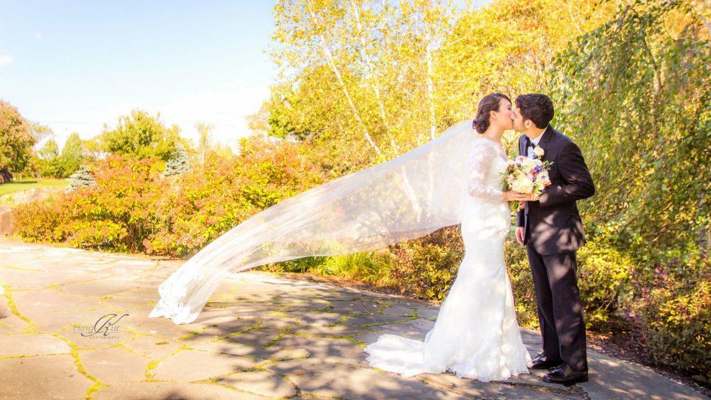長袖ウェディングドレス マーメイド アメリカ挙式 国際結婚