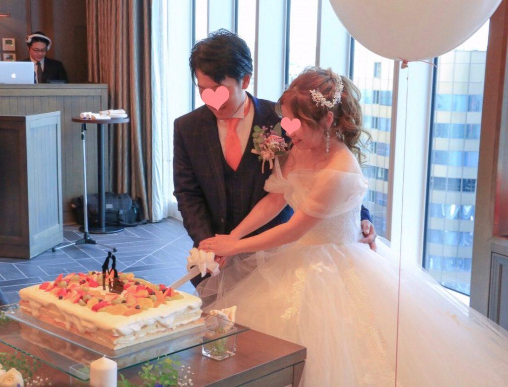 ハカタギグランヒューリ 結婚式 ケーキ入刀