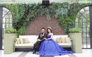 大阪 Miavia 結婚式 ロイヤルブルードレス
