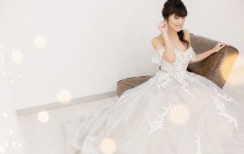 グレーウェディングドレス 新作ドレス