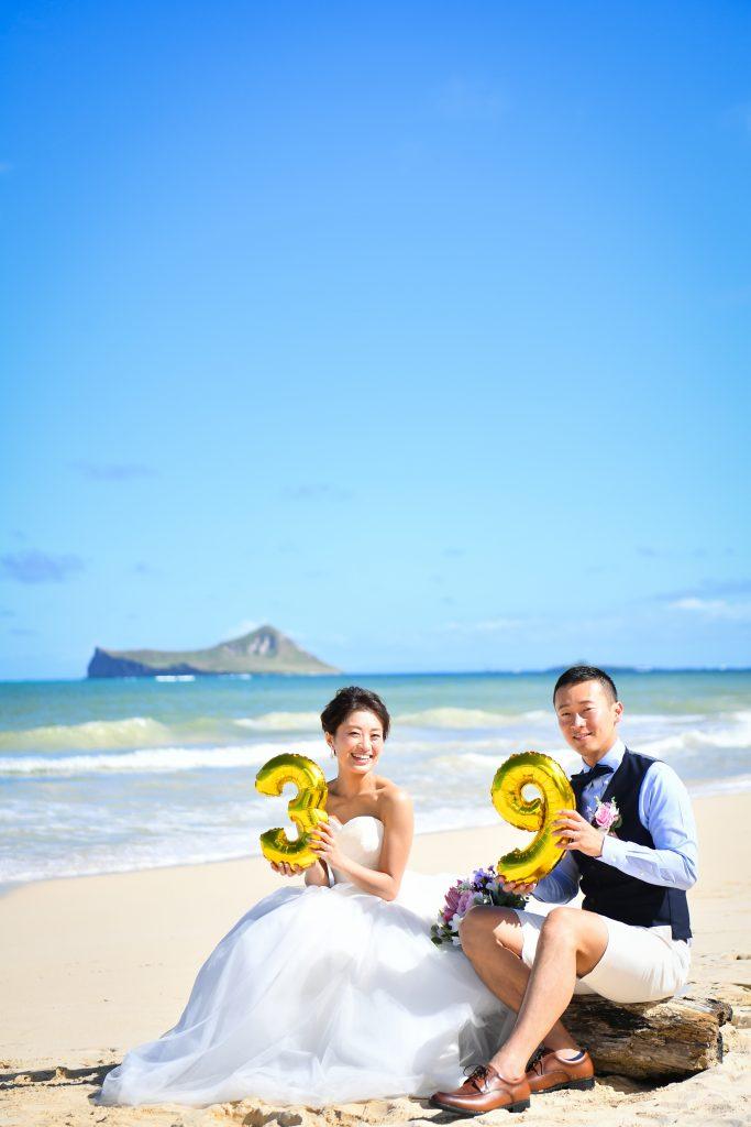 ハワイ前撮り ウェディングドレス