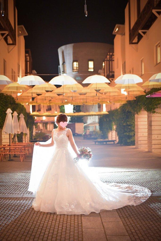 リゾナーレ八ヶ岳 結婚式 ウェディングドレス ロングトレーン マント