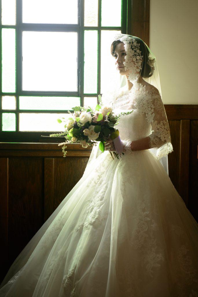 ウェディングドレス マリアベール 教会式
