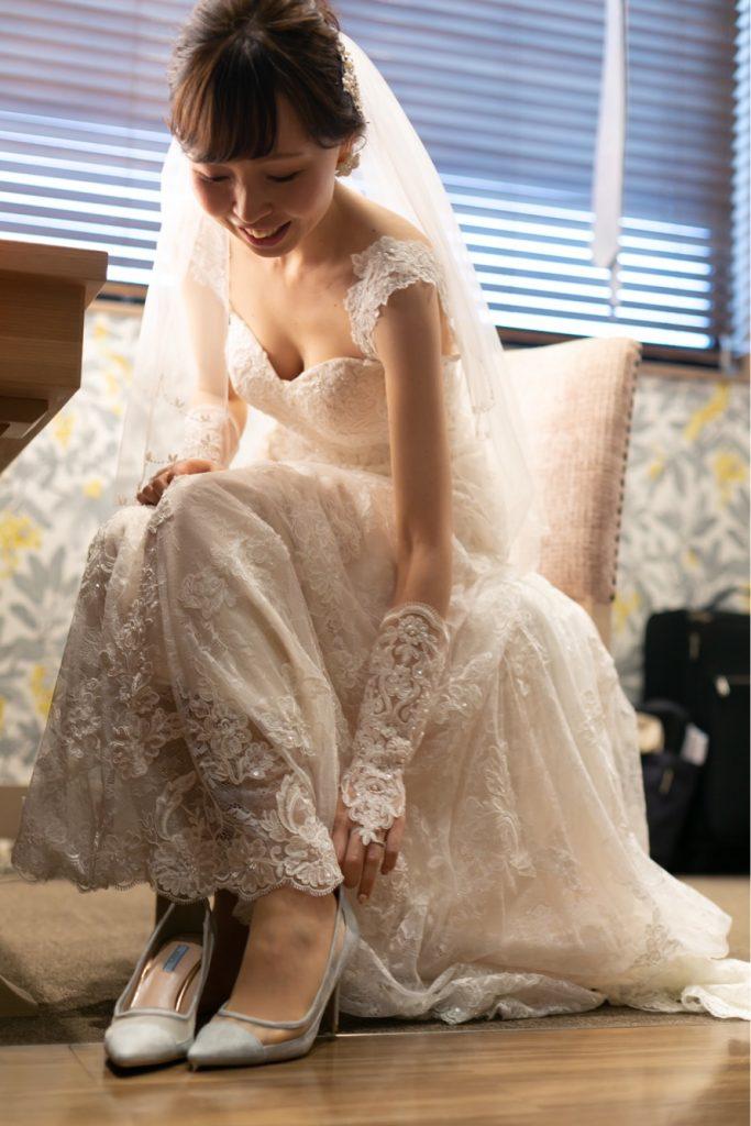 結婚式 花嫁お支度 シューズ