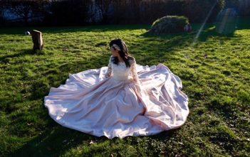 フランス 国際結婚 ウェディングドレス 袖付き