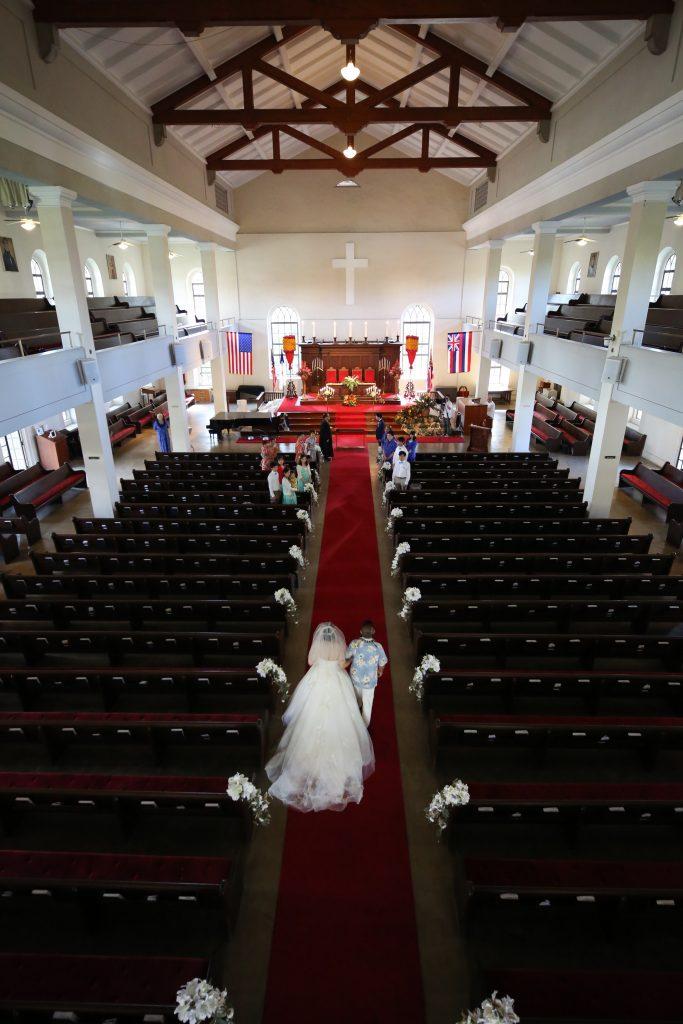ハワイ カワイアハオ教会 結婚式