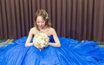 池袋ホテルメトロポリタン 結婚式 お色直し ブルーカラードレス