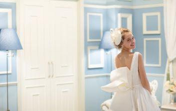 ウェディングドレス クラシカル バックリボン