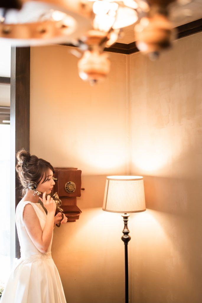 結婚式 前撮り アンティーク ウェディングドレス 新潟