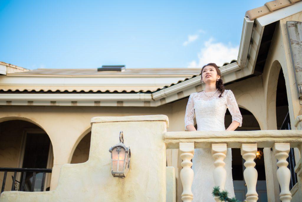 結婚式 前撮り 西洋風 マーメイドドレス ボレロ