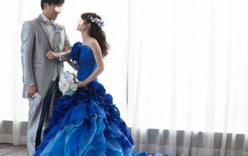 LUCIS(ルーキス) 結婚式 お色直し ブルーカラードレス
