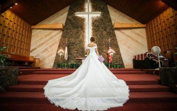 ウェディングドレス クラシカル オフショルダー 教会式