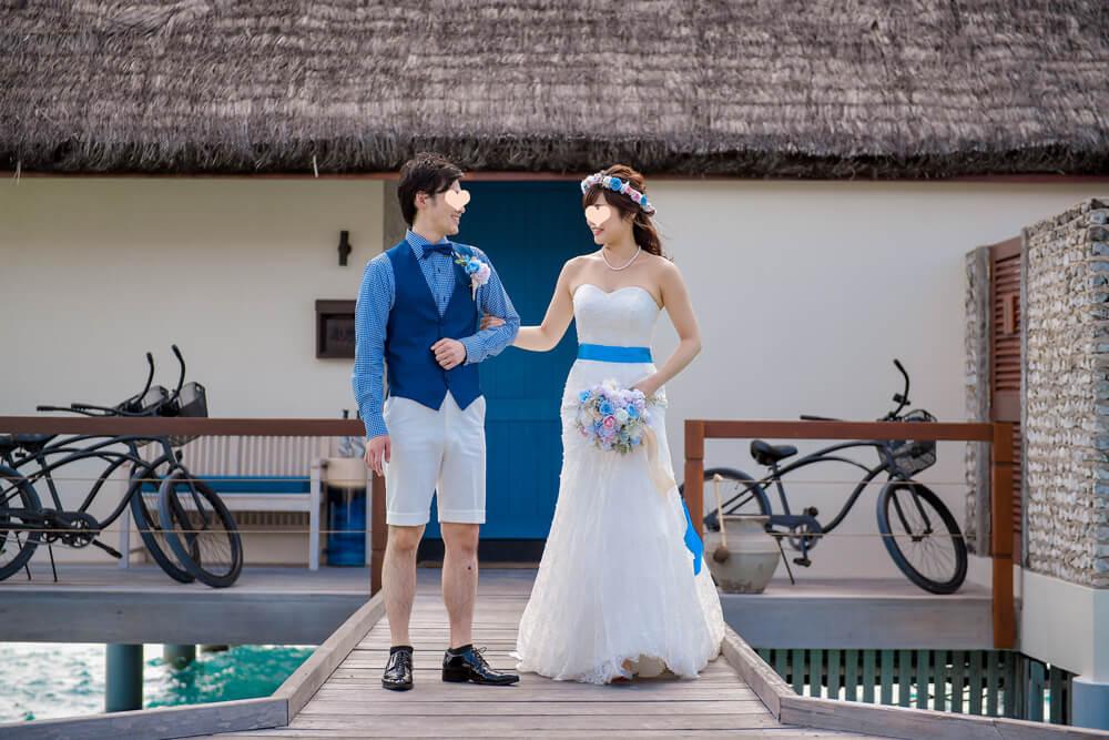 モルディブ結婚式 フォーシーズンズリゾートモルディブ アット ランダーギラーヴァル マーメイドウェディングドレス