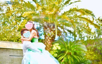 カラードレス ミントグリーン  The Palm Garden Orient Villa 結婚式