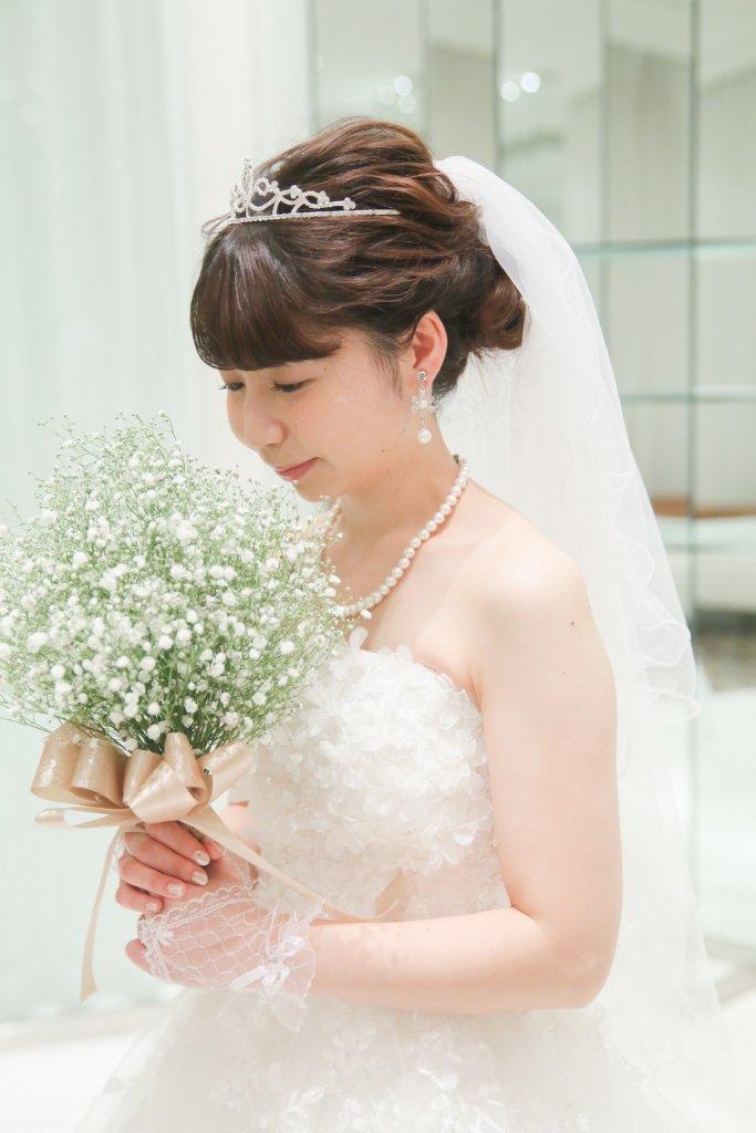 グランドニッコー東京台場 結婚式 ウェディングドレス かすみ草