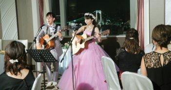 グランドニッコー東京台場 結婚式 新郎新婦のギター演奏