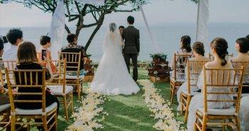 バリ島結婚式 villa pemutih ガーデンウェディング