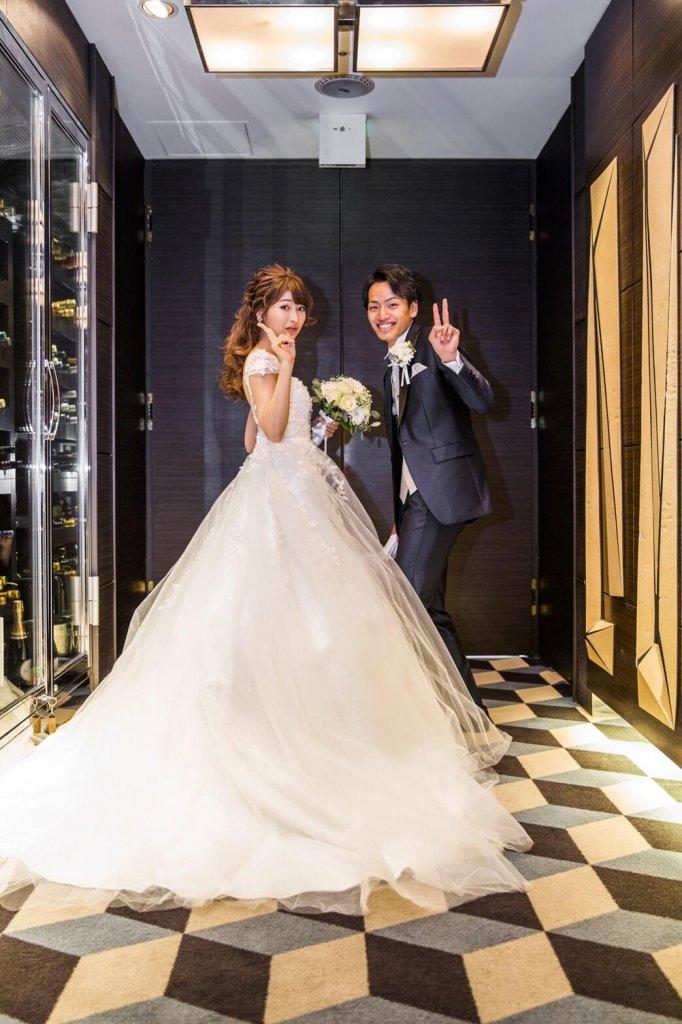 Restaurant LUKE with SKY LOUNGE  結婚式 ウェディングドレス バックレス