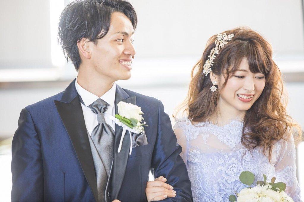 Restaurant LUKE with SKY LOUNGE  結婚式 カラードレス くすみブルー ボレロ