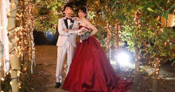 ベイサイドパーク迎賓館千葉みなと 結婚式 カラードレス 赤