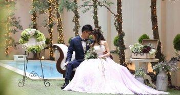 アクアテラス迎賓館新横浜 結婚式 ウェディングドレス オーバースカート