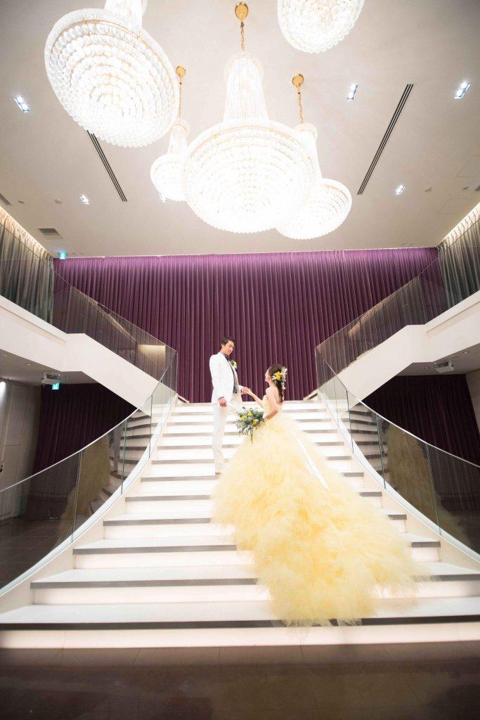 カノビアーノ福岡 結婚式 黄色 カラードレス